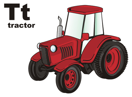 tractor and abc Stock Photo