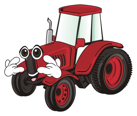 funny tractor Stock Photo