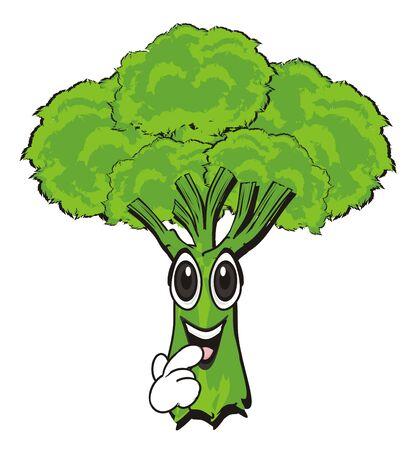 shy face of broccoli