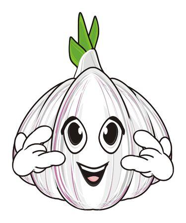 Happy face of garlic