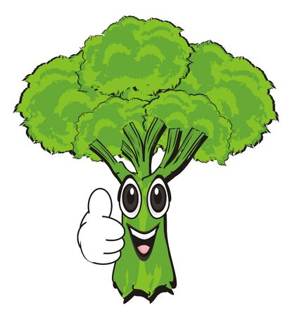 smiling face of broccoli show gesture class