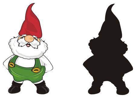 colored gnome with solid black gnome