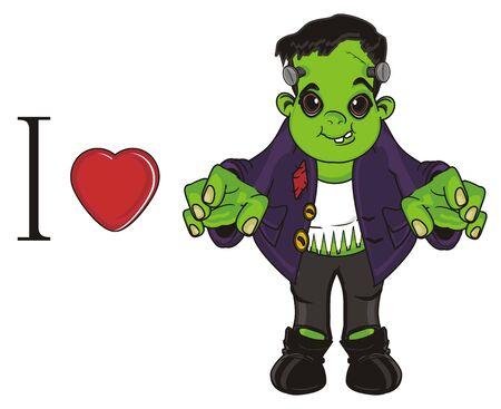 i love Frankenstein Stock Photo
