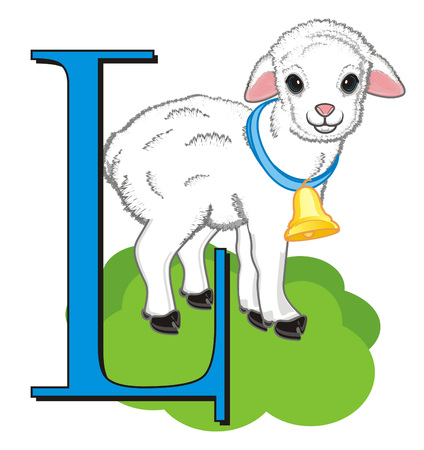 lamb and large letter l Stock fotó - 91894140