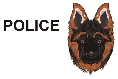 snout of shepherd and word police