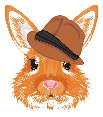 Face of bunny in hat