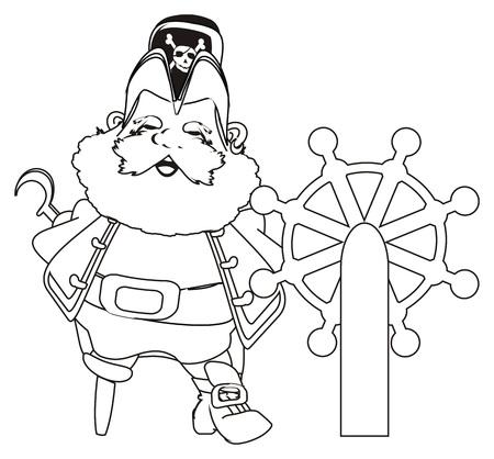 coloring pirate stand near twist Stok Fotoğraf