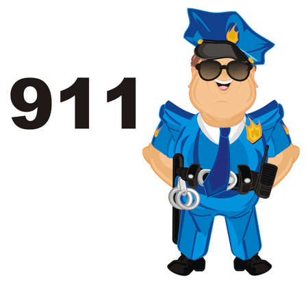 policeman and numbers