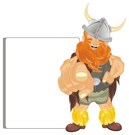 viking with clean white paper