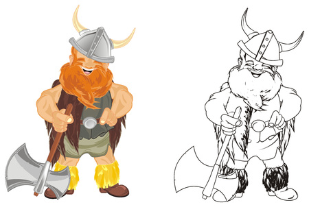 colored and coloring vikings