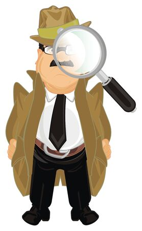 detective with large magnifier