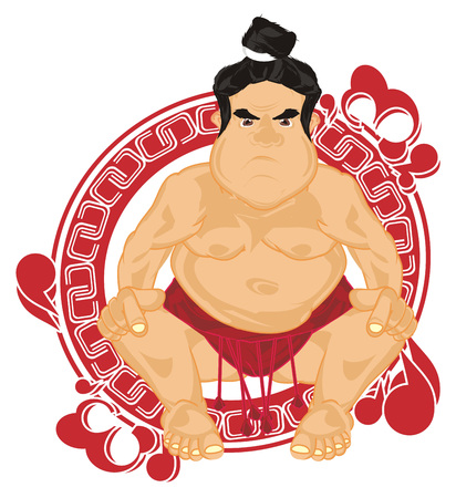 sumo wrestler and large red icon