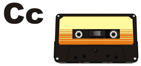 audio cassette and letters c