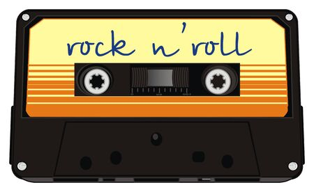 audio cassette and rock n'roll Banco de Imagens