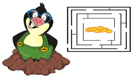 happy mole and labyrinth