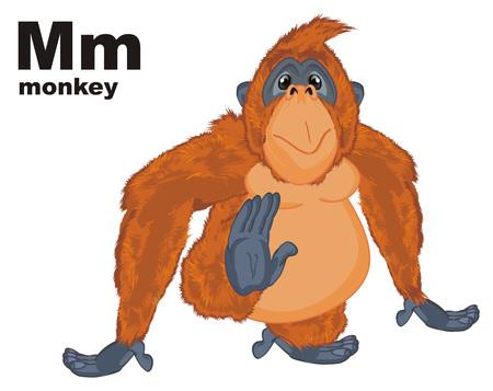 orangutan and black abc Фото со стока