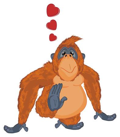 orangutan in love