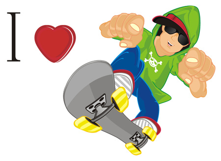 i love ride on skateboard Stok Fotoğraf
