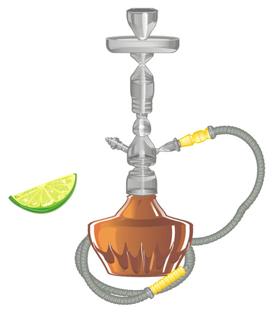 hookah with lime Stock Photo