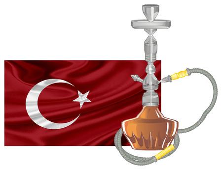 hookah and Turkeys flag