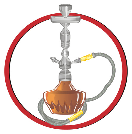 hookah on red sign