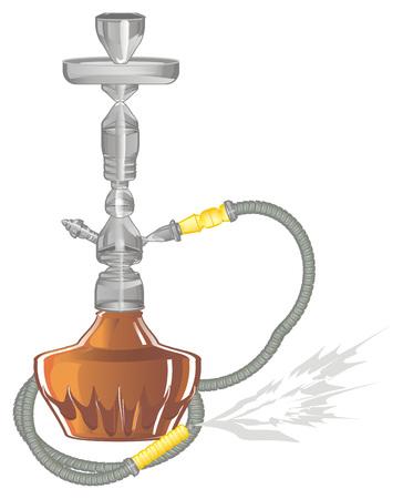 hookah with smoke
