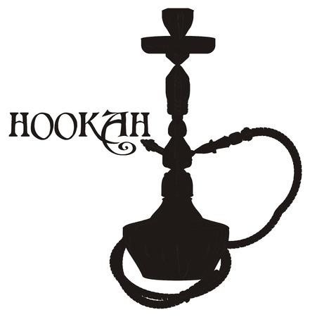 solid black hookah