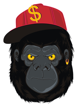 face of gorilla Stock Photo