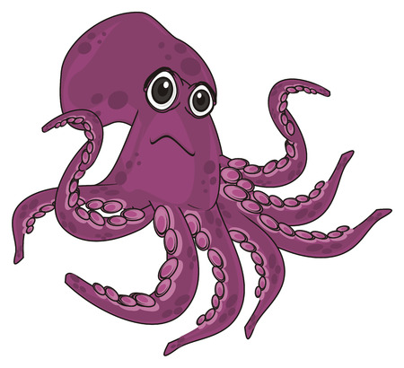 un happy purple octopus Stock Photo - 108592414