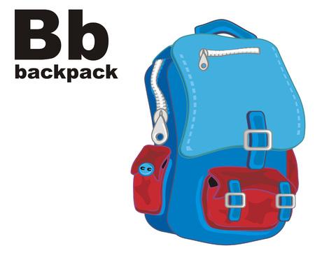 school backpack and abc 版權商用圖片
