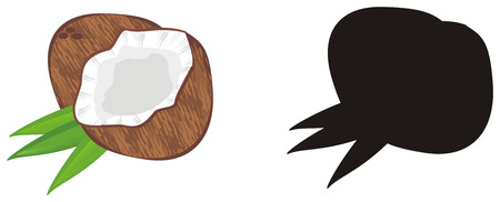 colored and solid black coconut Reklamní fotografie