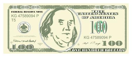 one hundred dollar 写真素材