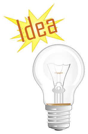 light bulb with idea Imagens