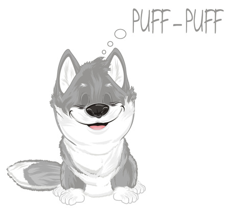 sleeping wolf say puff-puff