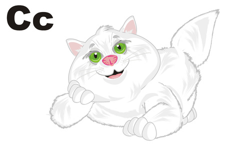 fat cat and letters c