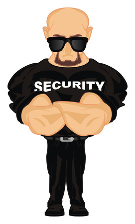 security in sunglasses Stock Photo
