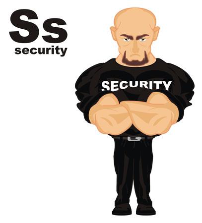 beveiliging en abc Stockfoto