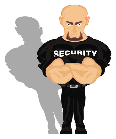 security and his shadow Stock Photo