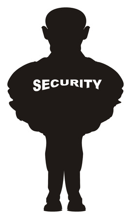 black shadow of security Stock Photo - 117760566