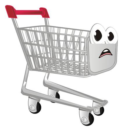 unhappy shopping trolley