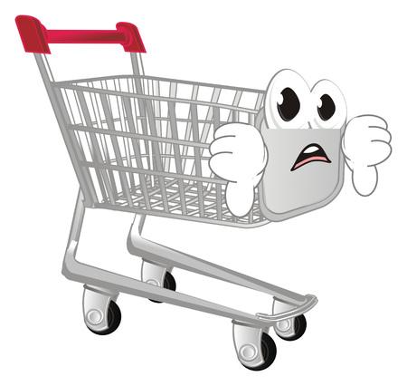 sad shopping trolley Stock Photo
