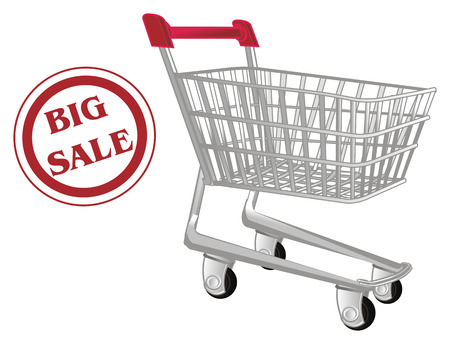big sale and market trolley