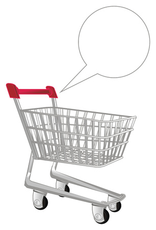market trolley and footnote Stock Photo