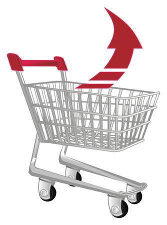 market trolley arrow up