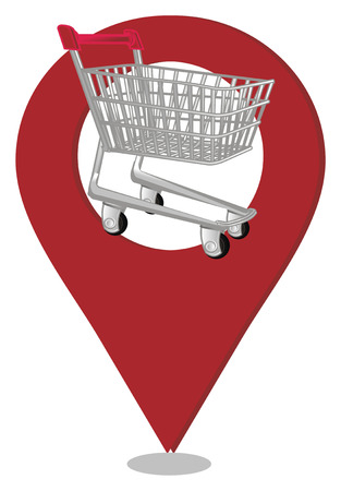 market trolley and geolocation