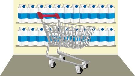iron shopping trolley