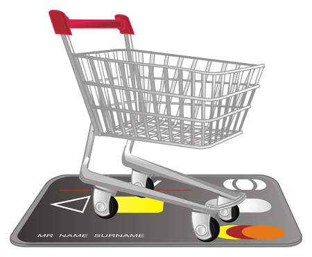shopping trolley and milk