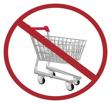 market trolley on ban Stock Photo