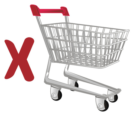 market trolley and red cross