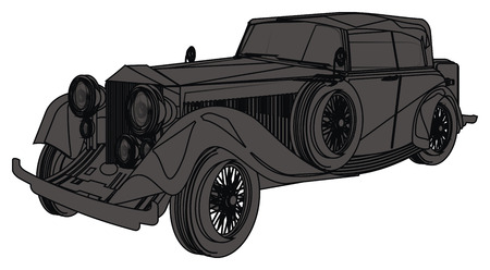 black and gray classic car
